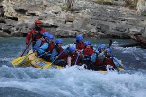 تجربة التجديف الأولى Rafting