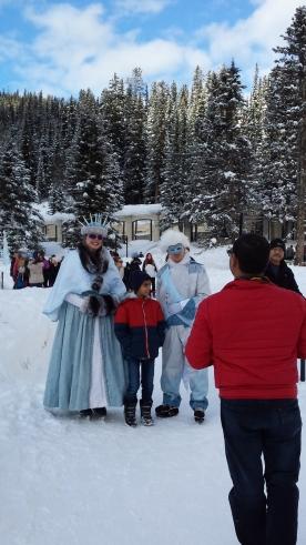 ملكة وملك مهرجان الثلج